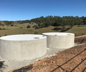 2 x 68,500L Concrete Water Tanks @ Nambour Sunshine Coast
