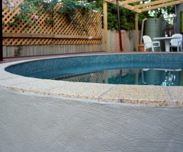3.75m Concrete Plunge Pool fully tiled and external render @ Palmwoods Sunshine Coast