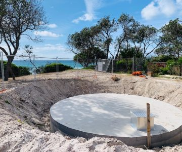 45,400L - 10,000Gallon Concrete Water Tanks @ Teewah Beach Noosa North Shore