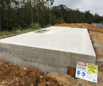 Custom Rectangle Concrete Water Tank @ Chevallum Sunshine Coast