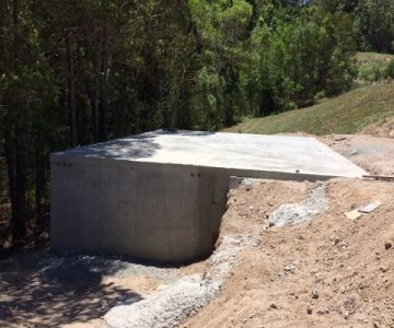 Custom rectangle tank with shed slab @ Rosemount Sunshine Coast